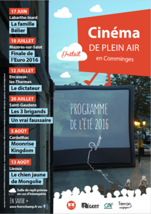 Cin�ma de plein air en Comminges